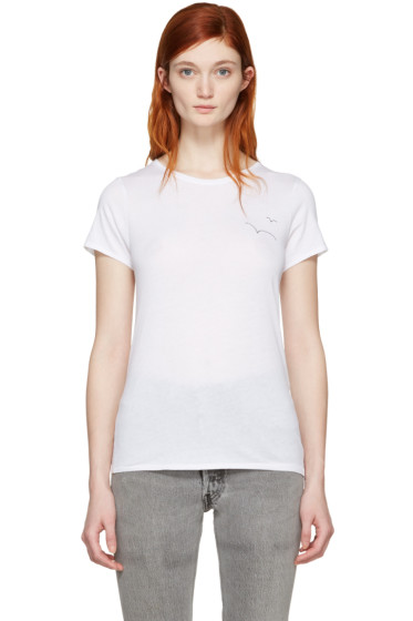 Rag & Bone - SSENSE Exclusive White Embroidered T-Shirt