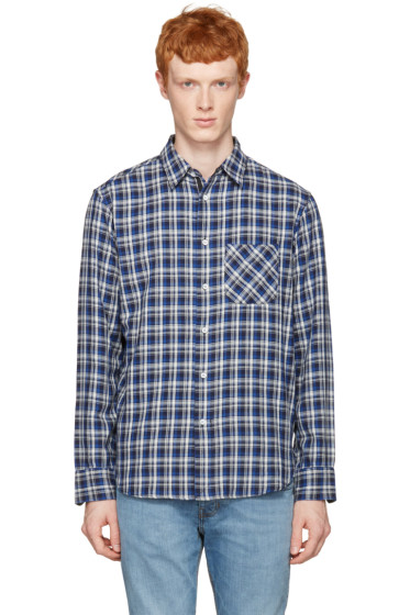 Rag & Bone - Blue Check Beach Shirt