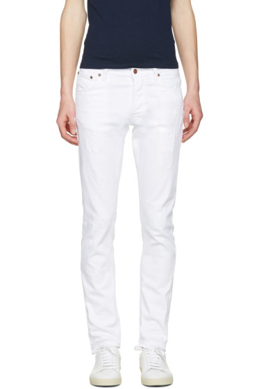 Nudie Jeans - White Tilted Tor Jeans