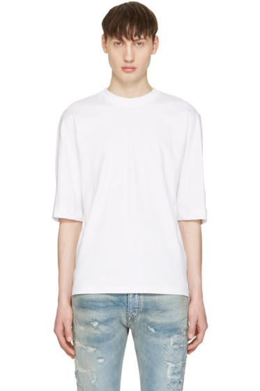 Diesel Black Gold - White Poplin Back T-Shirt
