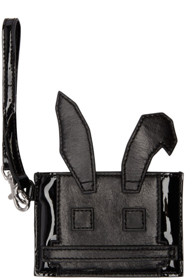 McQ Alexander Mcqueen - Black Electro Bunny Card Holder