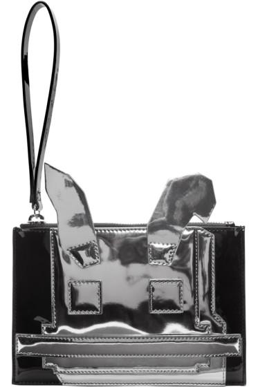 McQ Alexander Mcqueen - Black & Silver Electro Bunny Pouch