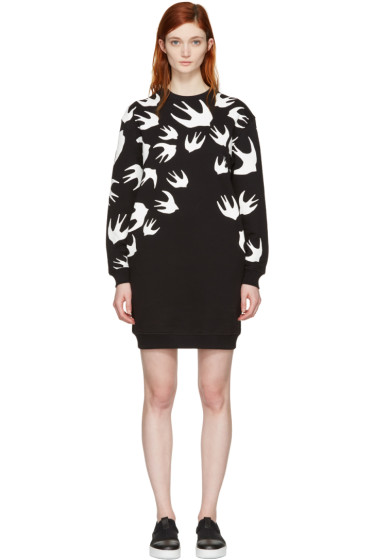 McQ Alexander Mcqueen - Black Swallows Pullover Dress