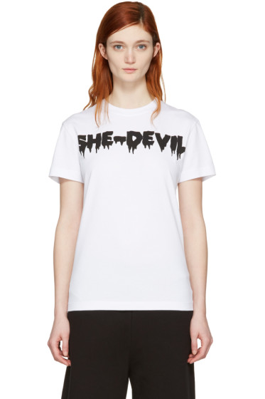 McQ Alexander Mcqueen - White 'She-Devil' T-Shirt
