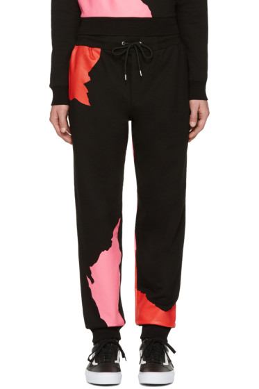 McQ Alexander Mcqueen - Black Abstract Icon Dart Lounge Pants