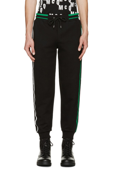 McQ Alexander Mcqueen - Black Striped Lounge Pants