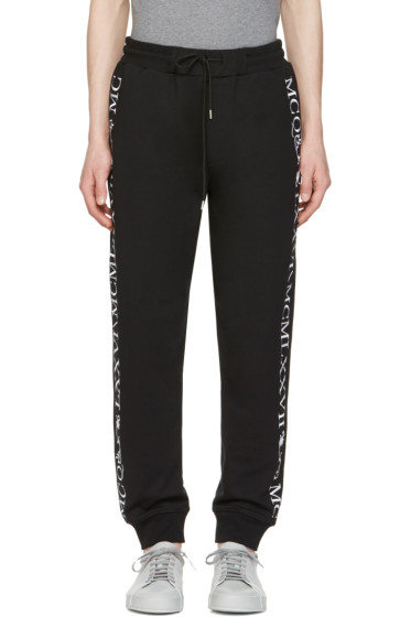 McQ Alexander Mcqueen - Black Numeral Lounge Pants