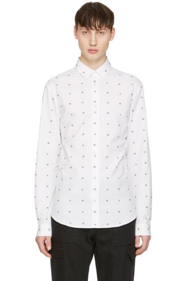 McQ Alexander Mcqueen - White Googe Swallows Shirt