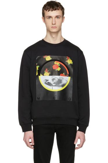 McQ Alexander Mcqueen - Black Floral Clean Pullover