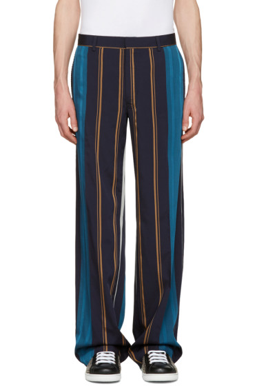Tiger of Sweden - Navy Striped Eamon Trousers