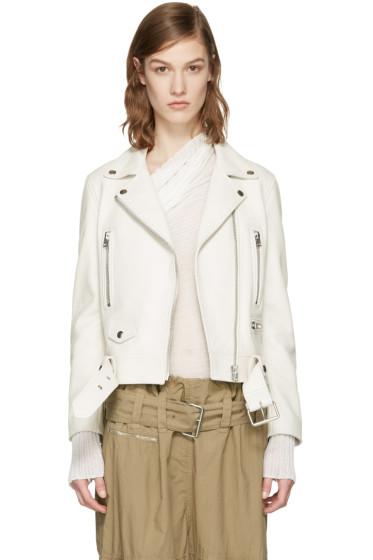 Acne Studios - Ivory Leather Mock Jacket