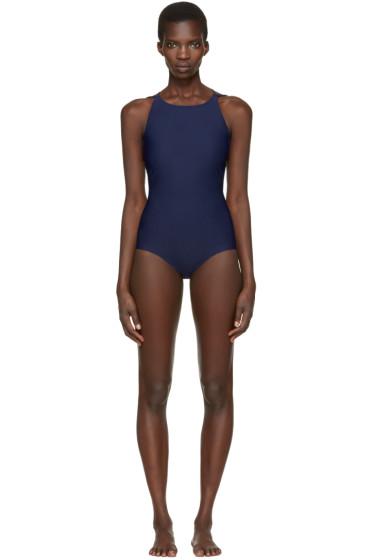 Acne Studios - Navy Halla Open Back Swimsuit