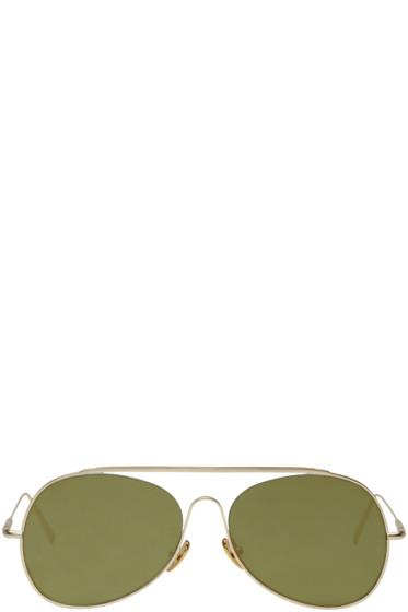 Acne Studios - Gold Spitfire L Sat Sunglasses