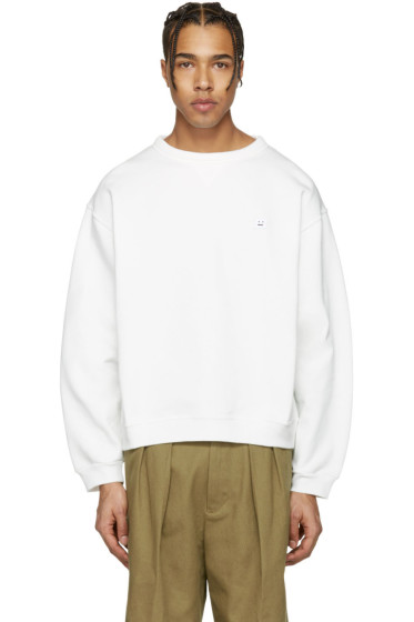Acne Studios - Ecru Fint Face Sweatshirt