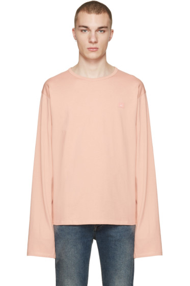 Acne Studios - Pink Fello Face T-Shirt