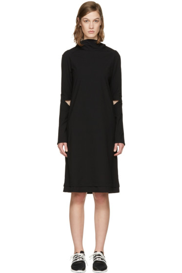 Y-3 - Black Hooded Dress