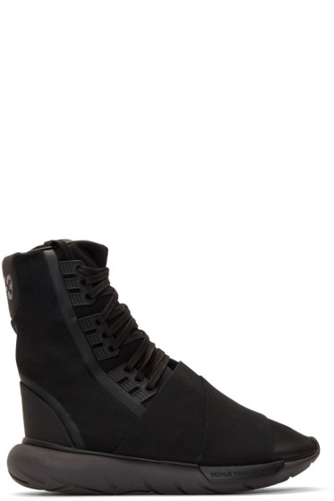 Y-3 - Black Qasa High-Top Sneakers