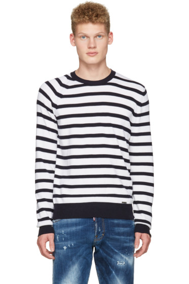 Dsquared2 - White Striped Pullover