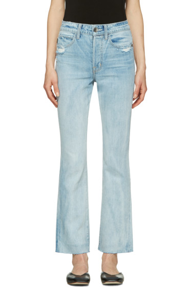 Helmut Lang - Blue High-Rise Crop Jeans