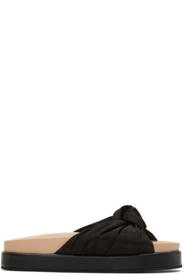 Helmut Lang - Black Knotted Platform Sandals