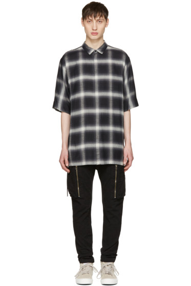 Helmut Lang - Black Drawcord Shirt