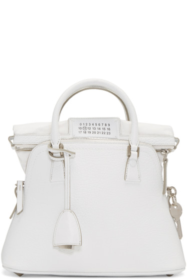 Maison Margiela - White Grained Leather Bag