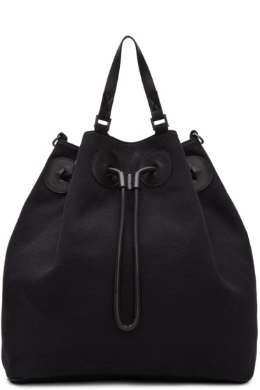 Maison Margiela - Black Canvas Bucket Backpack