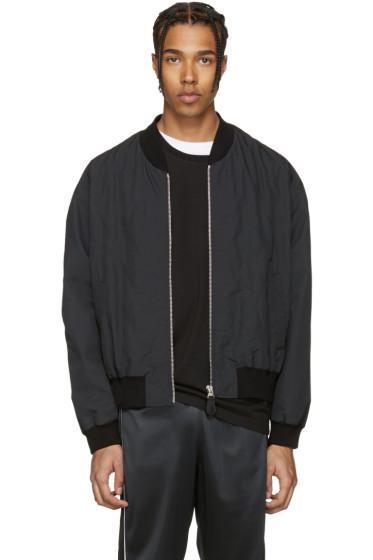 Maison Margiela - Black Quilted Front Bomber Jacket