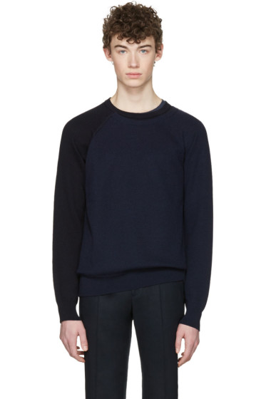 Maison Margiela - Navy Sleeve Detail Sweater