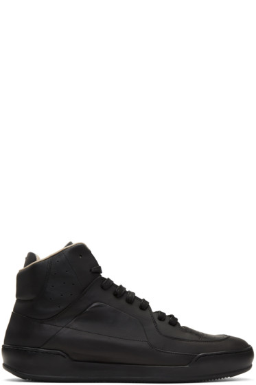 Maison Margiela - Black Leather High-Top Sneakers