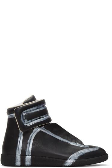 Maison Margiela - Black & Silver Future High-Top Sneakers