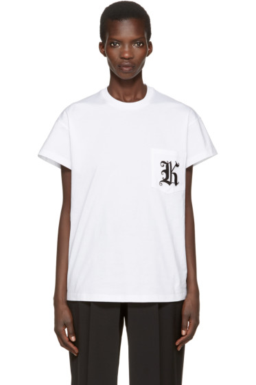 Christopher Kane - White Patch Pocket T-Shirt