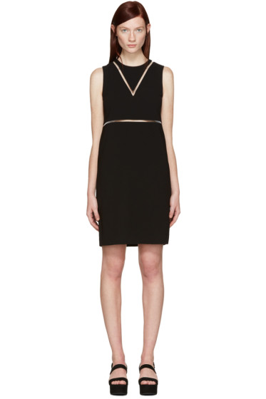 Alexander Wang - Black Straight Fishline Dress