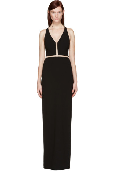 Alexander Wang - Black V-Neck Fishline Gown