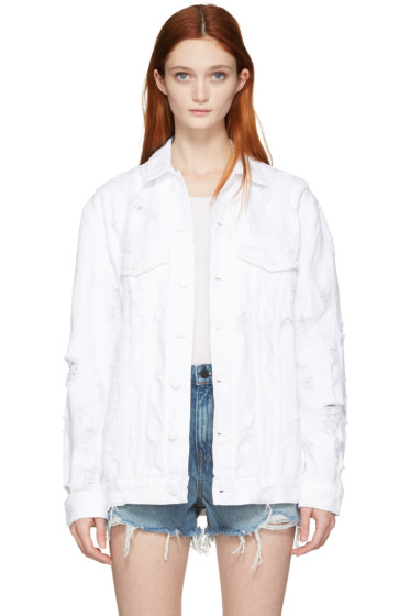 Alexander Wang - White Denim Scratch Daze Jacket