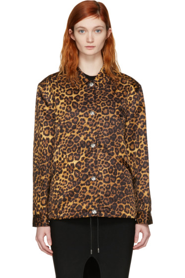 Alexander Wang - Tan Leopard Nylon Jacket