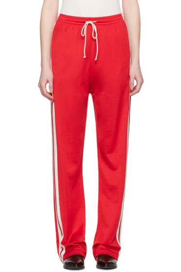 MM6 Maison Margiela - Red Striped Lounge Pants