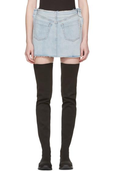 MM6 Maison Margiela - Indigo Denim Inside Out Miniskirt