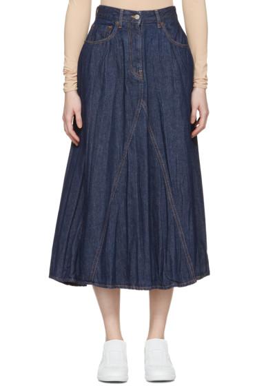 MM6 Maison Margiela - Indigo Crumpled Denim Skirt