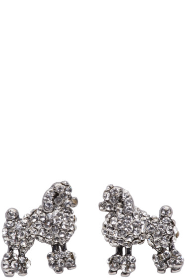 Marc Jacobs - Silver Small Poodle Earrings