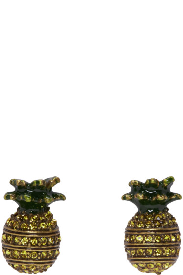 Marc Jacobs - Brass Pineapple Earrings