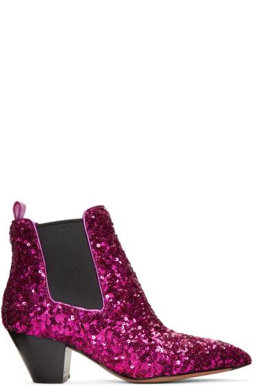 Marc Jacobs - Black Sequin Kim Boots