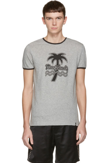 Marc Jacobs - Grey Palm Tree Ringer T-Shirt