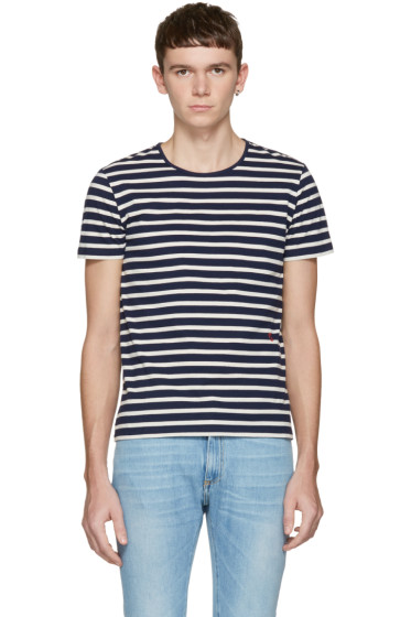 Marc Jacobs - Navy Striped T-Shirt