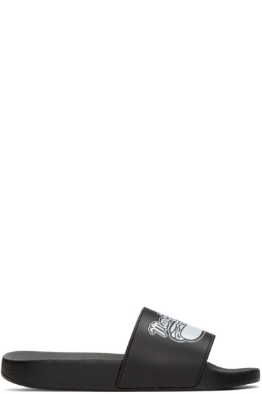 Marc Jacobs - Black Rubber Hot Dog Sandals