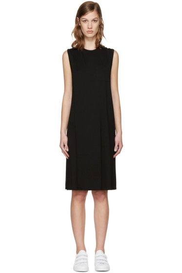 T by Alexander Wang - Black Overlap Dress