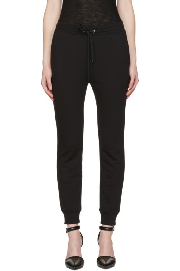 T by Alexander Wang - Black French Terry Lounge Pants