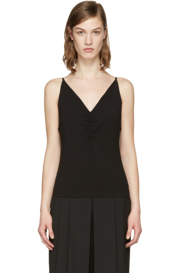 T by Alexander Wang - Black Shirred Front Tank Top