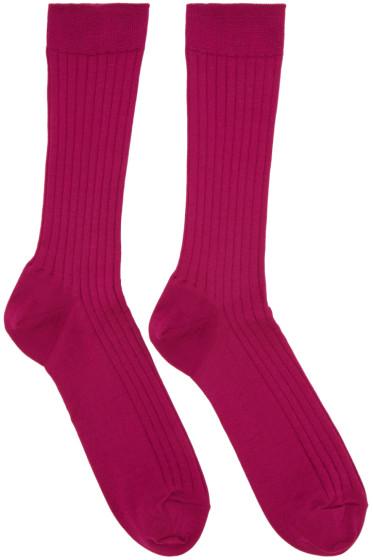 Robert Geller - Pink Konstantin Socks