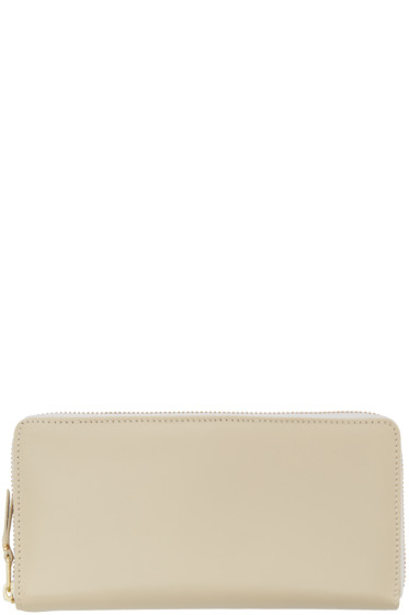 Comme des Garçons Wallets - Off-White Leather Continental Wallet